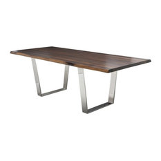 Jairo Dining Table Seared Oak Stainless Small