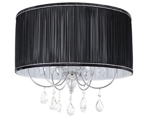 Lamour chandeliers lamour easy to fit light shade black chandeliers aloadofball Gallery