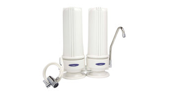 Fluoride Removal, Double Cartridge Countertop Water Filter System