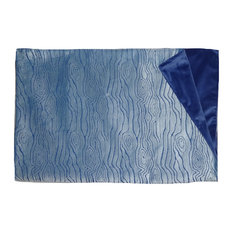 Velvet Bark Throw, Blue