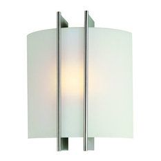 Wall Sconce, Ps W Frost Glass Shade, 60W B Type