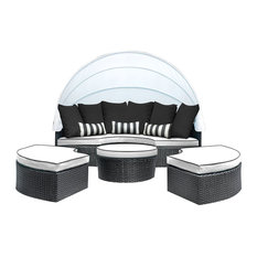 SOLIS Sombra Daybed, White and Black