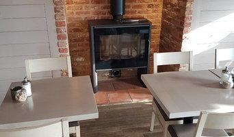 The Boatyard Cafe project- Log burning stove