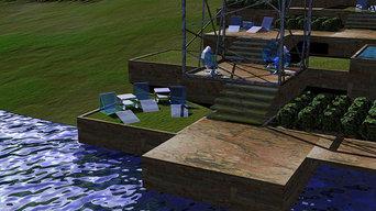 Island Resort Pool Terraces