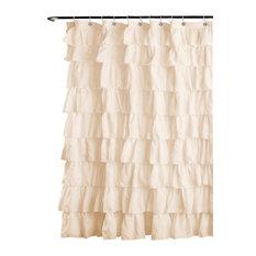 lush decor ruffle shower curtain ivory shower curtains
