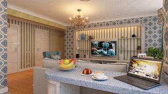 Кухня-столовая в ЖК 7 небо