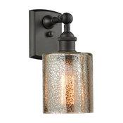 Cobbleskill 1-Light Sconce, Mercury Glass, Oil Rubbed Bronze