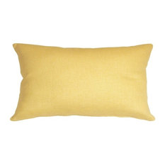 Pillow Decor - Tuscany Linen Banana Yellow 12 x 20 Throw Pillow