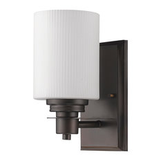 Acclaim Lighting   Amelia Indoor 1 Light Sconce With Glass Shade, Oil  Rubbed Bronze