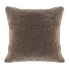 "Harriet Velvet 18"" Square Throw Pillow, Brown by Kosas Home"