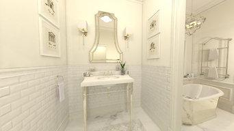 Luxury Boutique Hotel in Chicago - VIP Suite:  Sitting Room, Bedroom, Bathroom