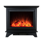 """AKDY 27"""" Freestanding Electric Fireplace Heater With Log Inserts"""