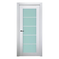 White Lacquer Finish Contemporary Interior Doors Houzz
