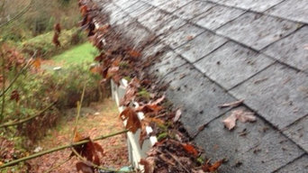 BEFORE - Gutters like this are definitely not protecting your home from water da