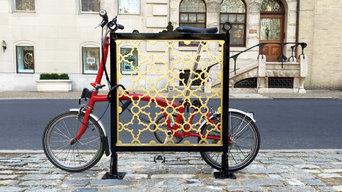 Gilded Gates Rittenhouse Square Bike rack