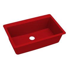 Elkay Quartz Luxe Single Bowl Drop-in Sink, Maraschino