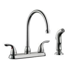 Design House 525071 Ashland Double Handle Kitchen Faucet - Polished Chrome