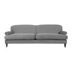 Dixon T-Cushion Sofa, Grey, 2-Seater