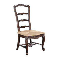 New French Country Tall Chair  Walnut