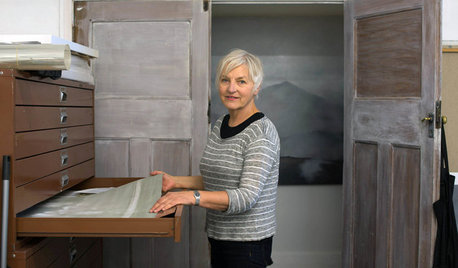 Creatives At Home: Artist Kari Henriksen in Her Studio at Home