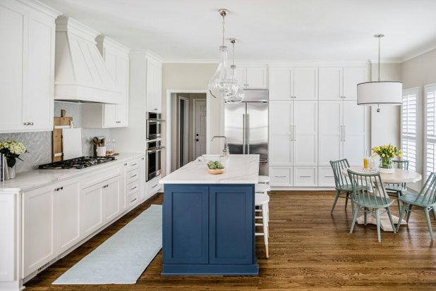 Transitional Kitchen by Delphinium Design