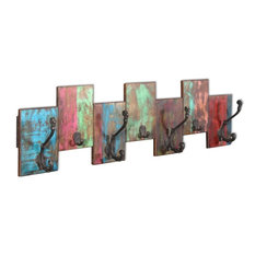 vidaXL Coat Rack With 7-Hook, Solid Reclaimed Wood