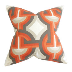 "Rineke Geometric Pillow Orange 18""x18"""