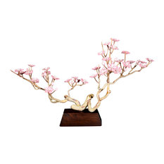Cherry Blossom Tree Glass Sculpture