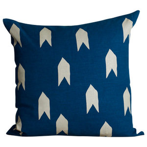 Teal Large Arrow Cushion Cover