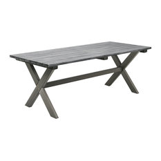 Large Shabby Chic Patio Table, Grey
