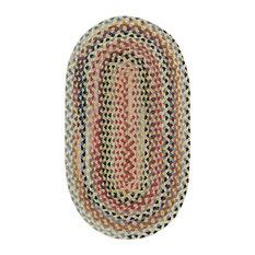 St. Johnsbury Braided Oval Rug, Wheat, 7'x9'