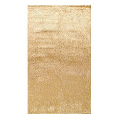Hand Woven Crystal Multi Gold Shag Rug   Area Rugs