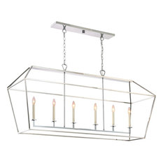 Quoizel Aviary Island Chandelier, Polished Nickel