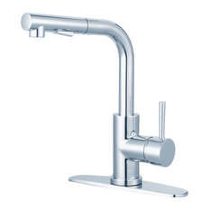 Gourmetier Pull-Out Kitchen Faucet, Polished Chrome