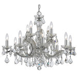 Elight Design - Crystal 12 Light Chandelier in Chrome - This 12 light Chandelier from the Crystal collection by elight DESIGN will enhance your home with a perfect mix of form and function. The features include a Chrome finish applied by experts.