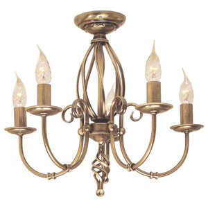 Artisan 5-Light Chandelier, Aged Brass
