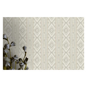 Global Style Southwestern Boho Light Gray Wallpaper, Yard