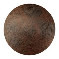 """20"""" Hand Hammered Copper Lazy Susan"""