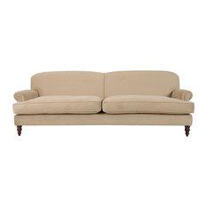 Dixon T-Cushion Sofa, Beige, 3-Seater