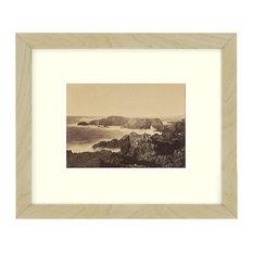 """Coast Off Mendocino"" Sepia Tone Framed Photo, 11""X15"""