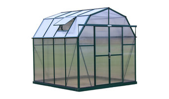 Elite Barn-Shaped Walk-In Greenhouse Kit, 8'x8', Earth Anchor