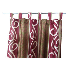 "Mogul Interior - Patterned Curtains Luxurious Drapes Drapery Window Panels Pair Tab Top, 48""x108"" - Curtains"