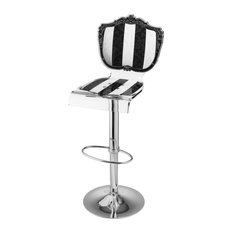 Baroque PD Barstool, Black and White Striped