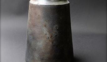 """Ваза керамическая """"Черный металл"""", высота 15 см"""