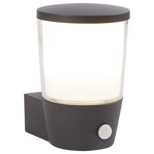 Tucson Outdoor Wall Light With PIR, Dark Grey