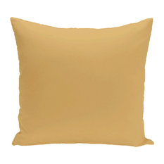"""Solid Print Pillow, Gold, 16""""x16"""""""