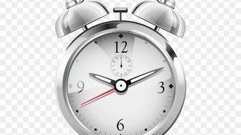Silver Alarm Clock Clipart Png
