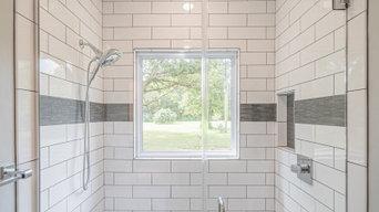 Beautiful walk in shower with window