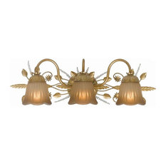 Crystorama Lighting   Primrose 3 Light Bathroom Vanity Lights, Gold Leaf   Bathroom  Vanity