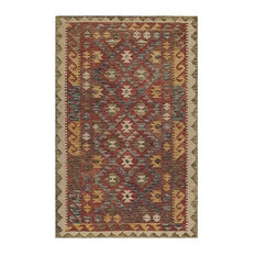 Tangier Hand-Hooked Rug, Red, 5'x8'